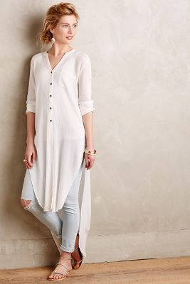 Buttondown Gauze Tunic