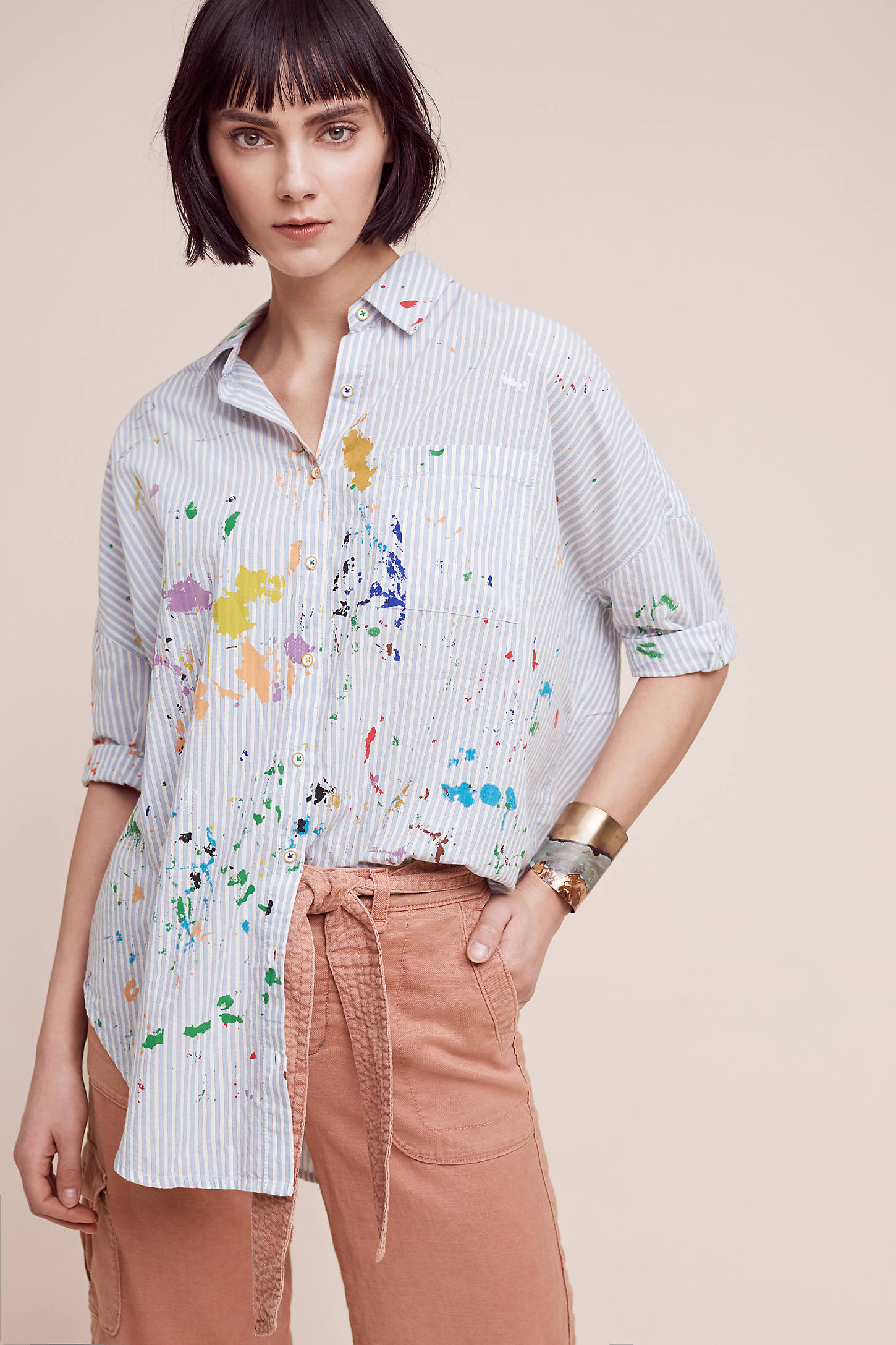 Painterly Shirt, Blue