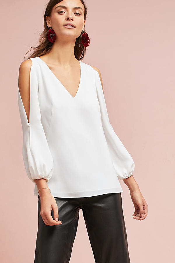 Shoshanna Open-Shoulder Blouse