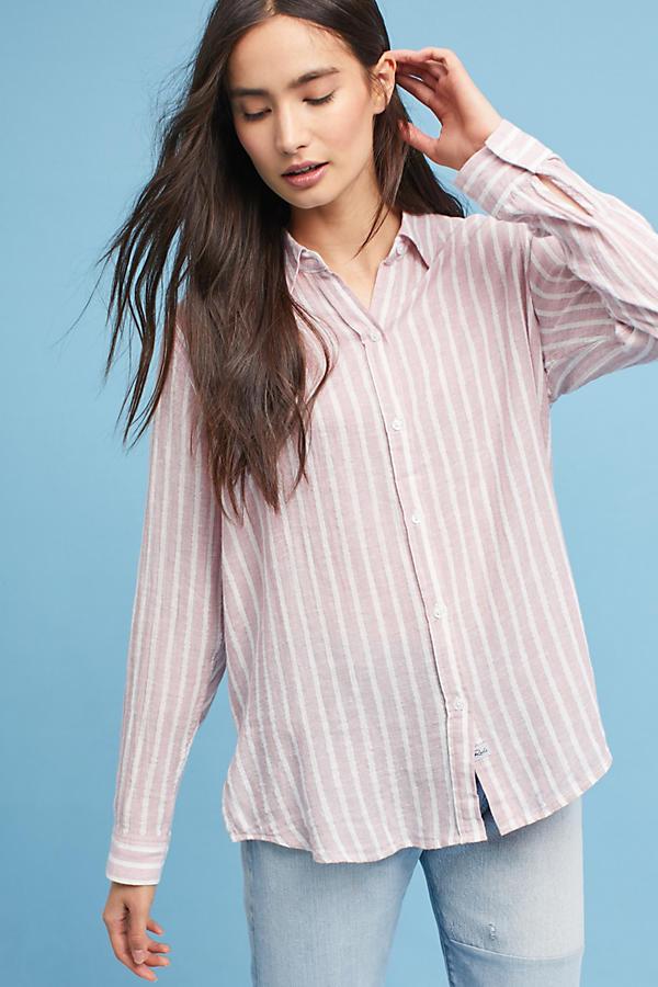 Rails Metallic Striped Shirt