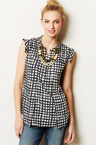Sale alerts for Anthropologie Ruffle Swing Henley - Covvet