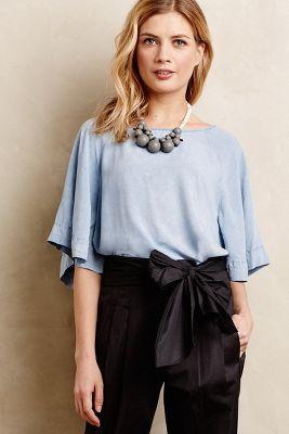 Chambray Kimono Top