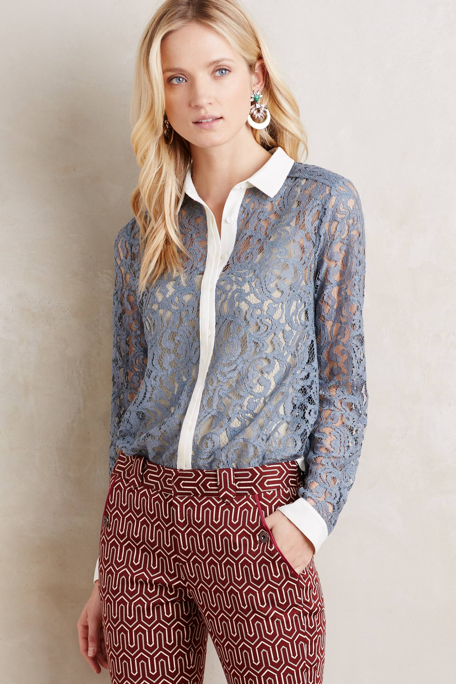 Merletto Lace Buttondown