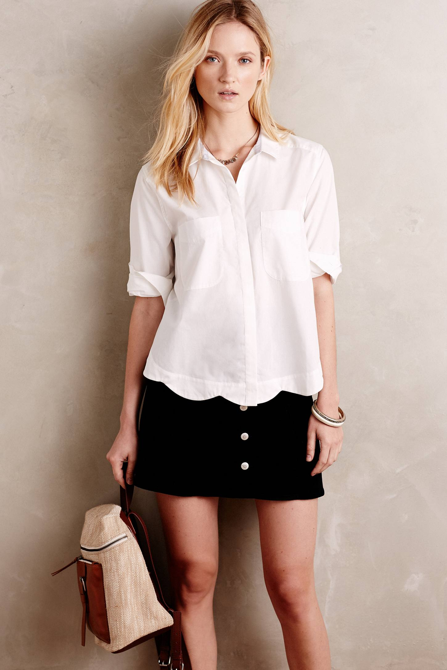 Cara Petite Scalloped Shirt