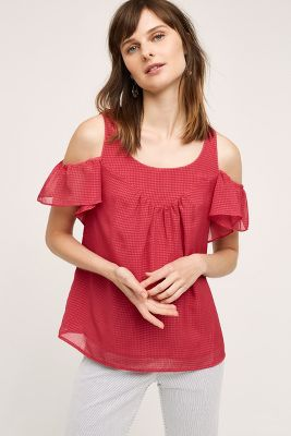 Tavin Open-Shoulder Blouse