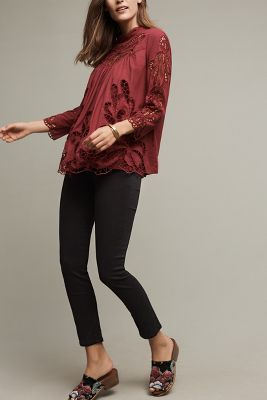 Laced High-Neck Blouse