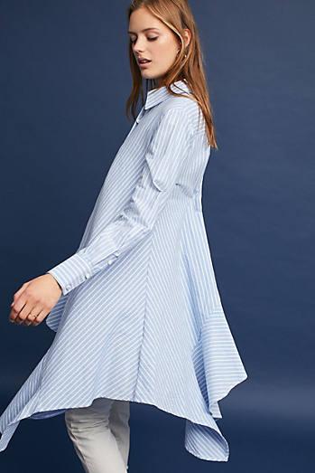 Asymmetrical Striped Buttondown