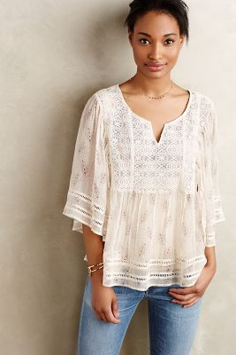 Aeris Silk Peasant Blouse