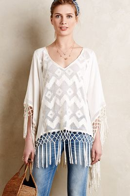 Fringed Lace Cover-Up