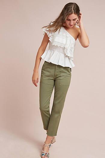 Ceri One-Shoulder Lace Top