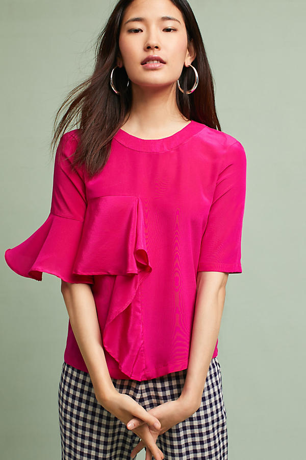 Silk Ruffled Top