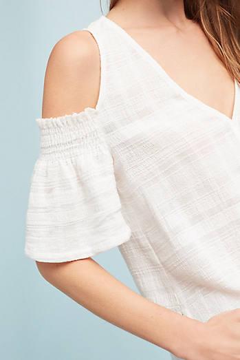 Textured Open-Shoulder Top