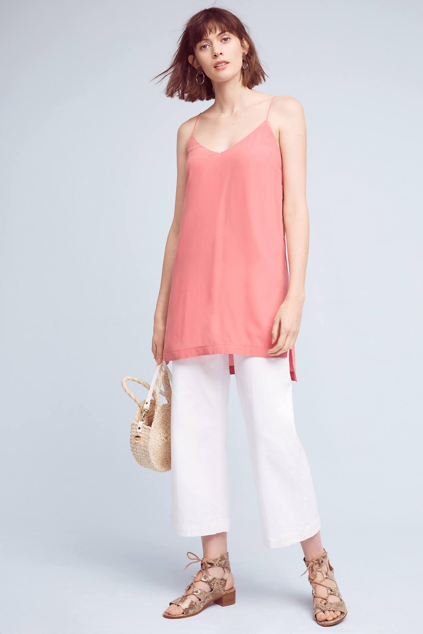 Naya Silk Longline Tunic, Pink