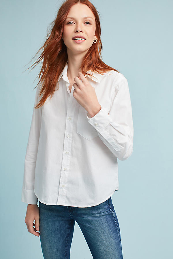 AMO Ruffled-Back Buttondown