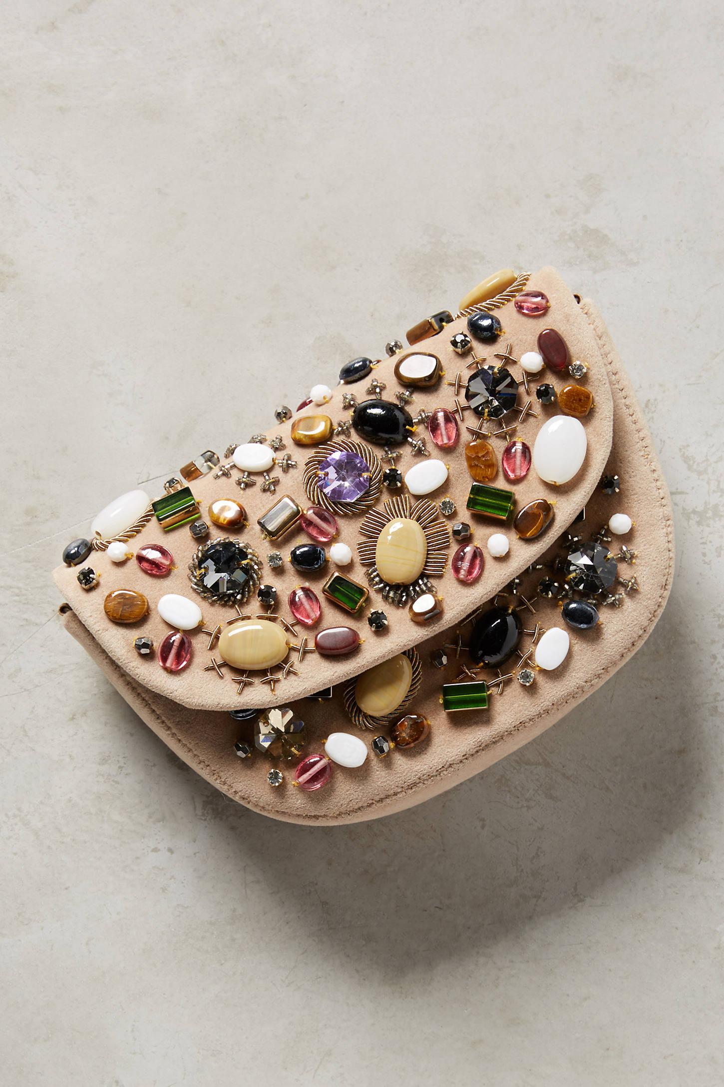 Stone Collection Velvet Clutch