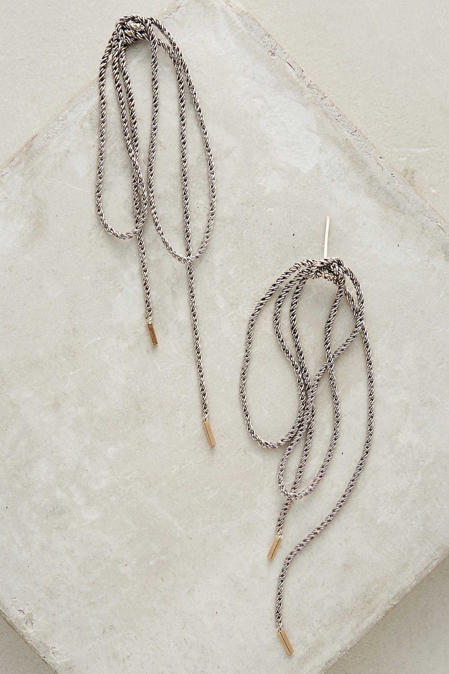 Bowtied Chain Earrings
