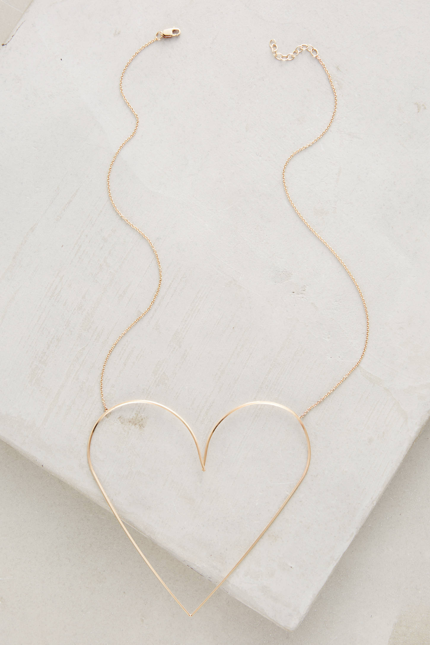 Gilded Heart Necklace