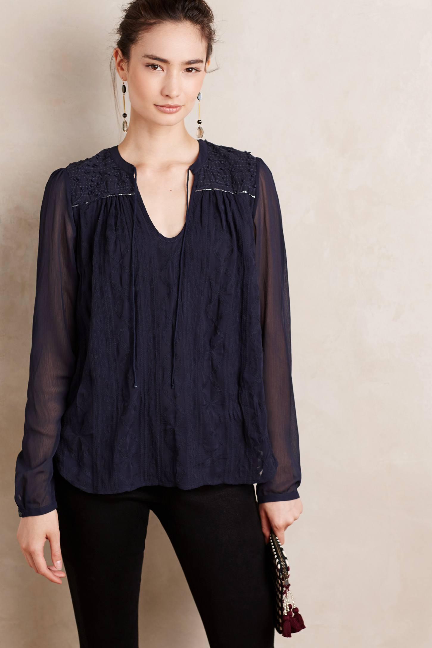 Paix Embroidered Blouse