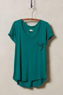Garment-Dyed V-Neck
