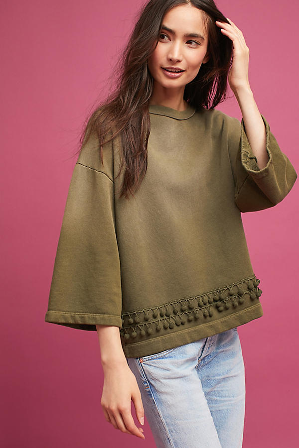 Current/Elliott Pom-Trimmed Sweatshirt