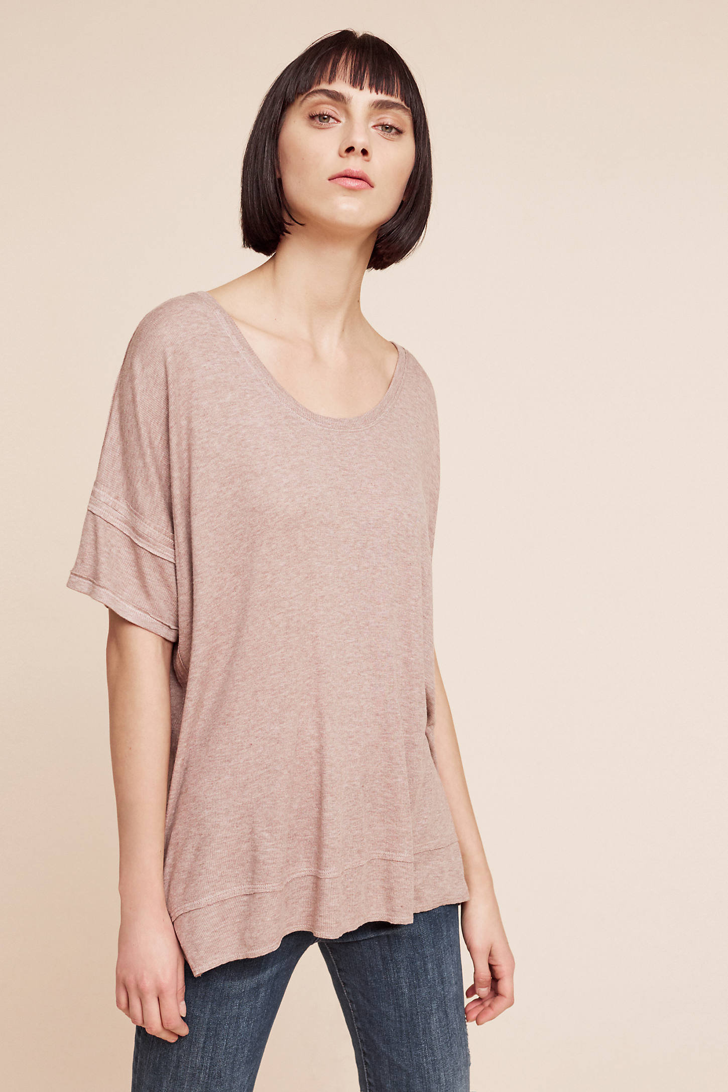 Dolman Ribbed Top, Taupe