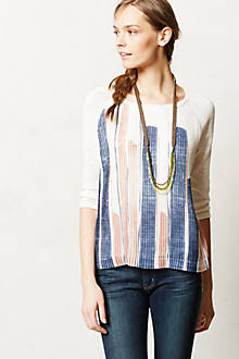 Pleated Brushstrokes Top