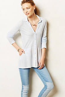 Draped Austa Buttondown