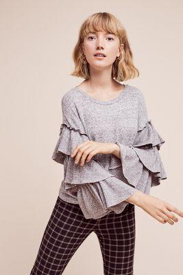 Ruffled Sagnier Pullover