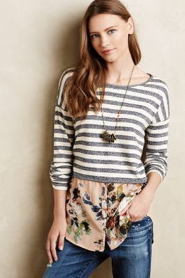 Layered Stripes Sweater