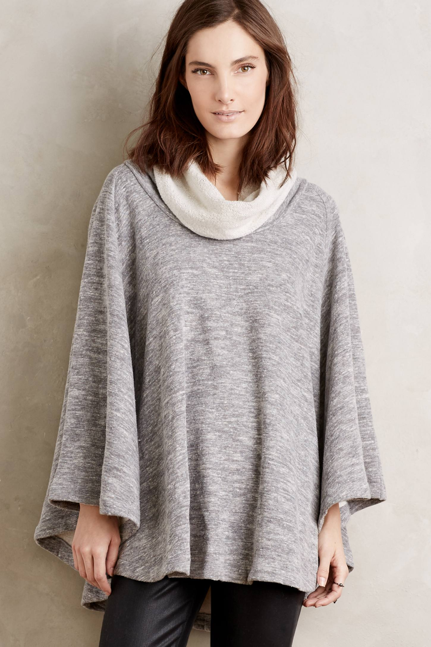 Heathered Cowl Cape