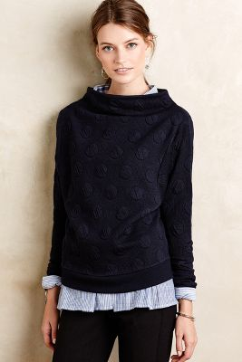 Dotted Funnelneck Pullover