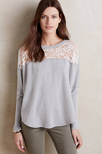Heathered Lace Tee