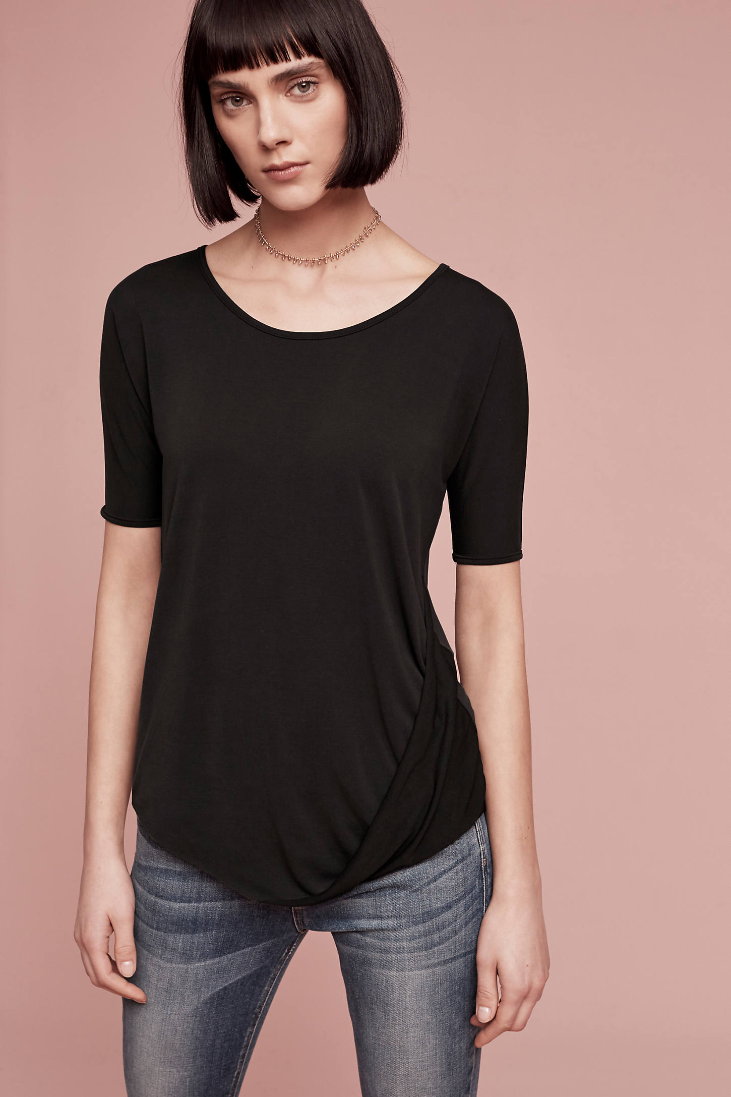 Coley Twist Top, Black