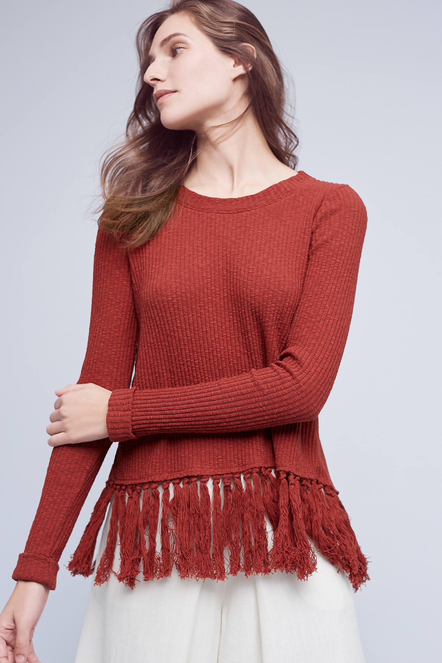 Tasseled Malla Pullover
