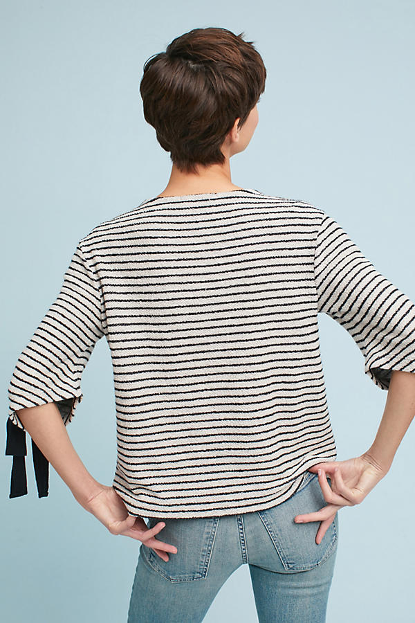Tied Stripes Pullover