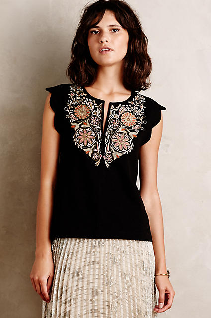 So purchasing a party top like this ( I happen to love it!) from  Anthropologie makes more sense if you know you can also wear it in the  summer for something ...