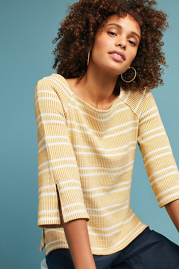 Striped Flared-Sleeve Top