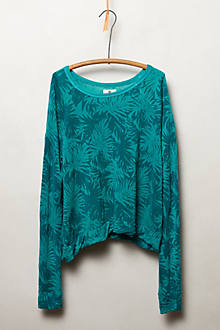 Palm Print Sweatshirt