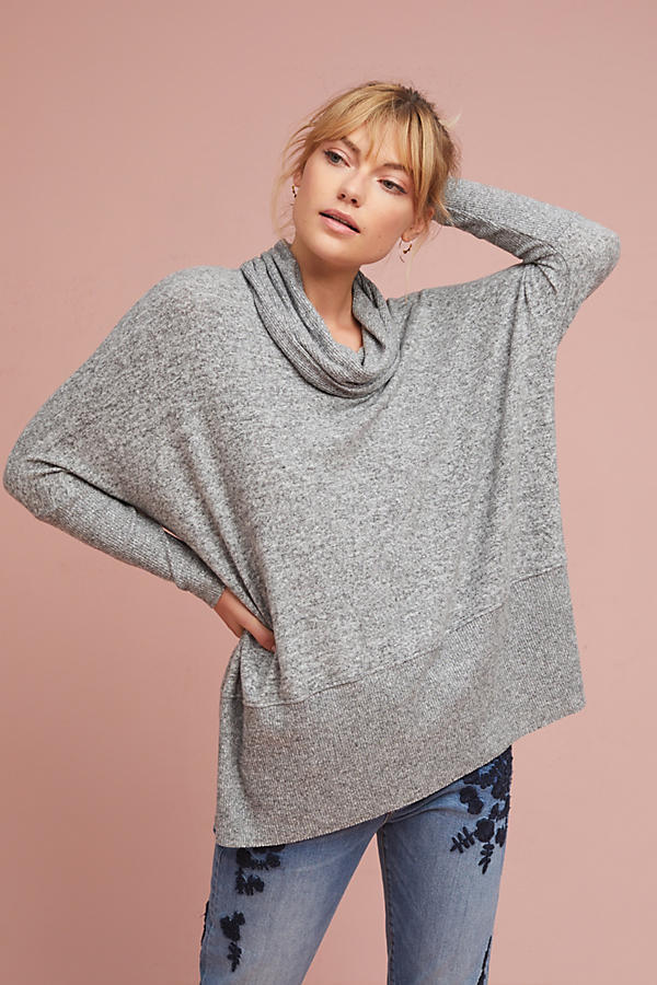 Brushed Fleece Cowl Top