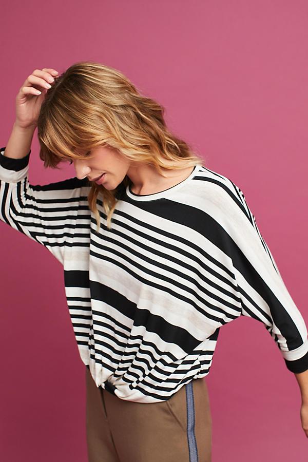 Striped Twist-Hem Top