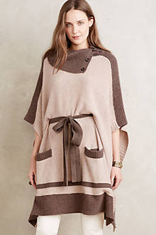Cowled Cashmere Poncho
