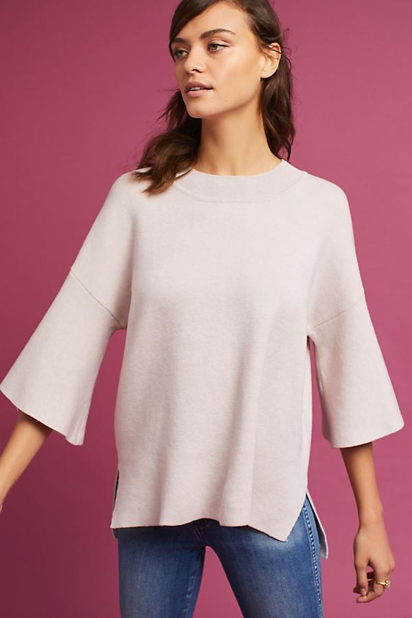 Lorena Flutter-Sleeve Pullover