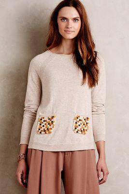 Marien Dot-Pocket Pullover