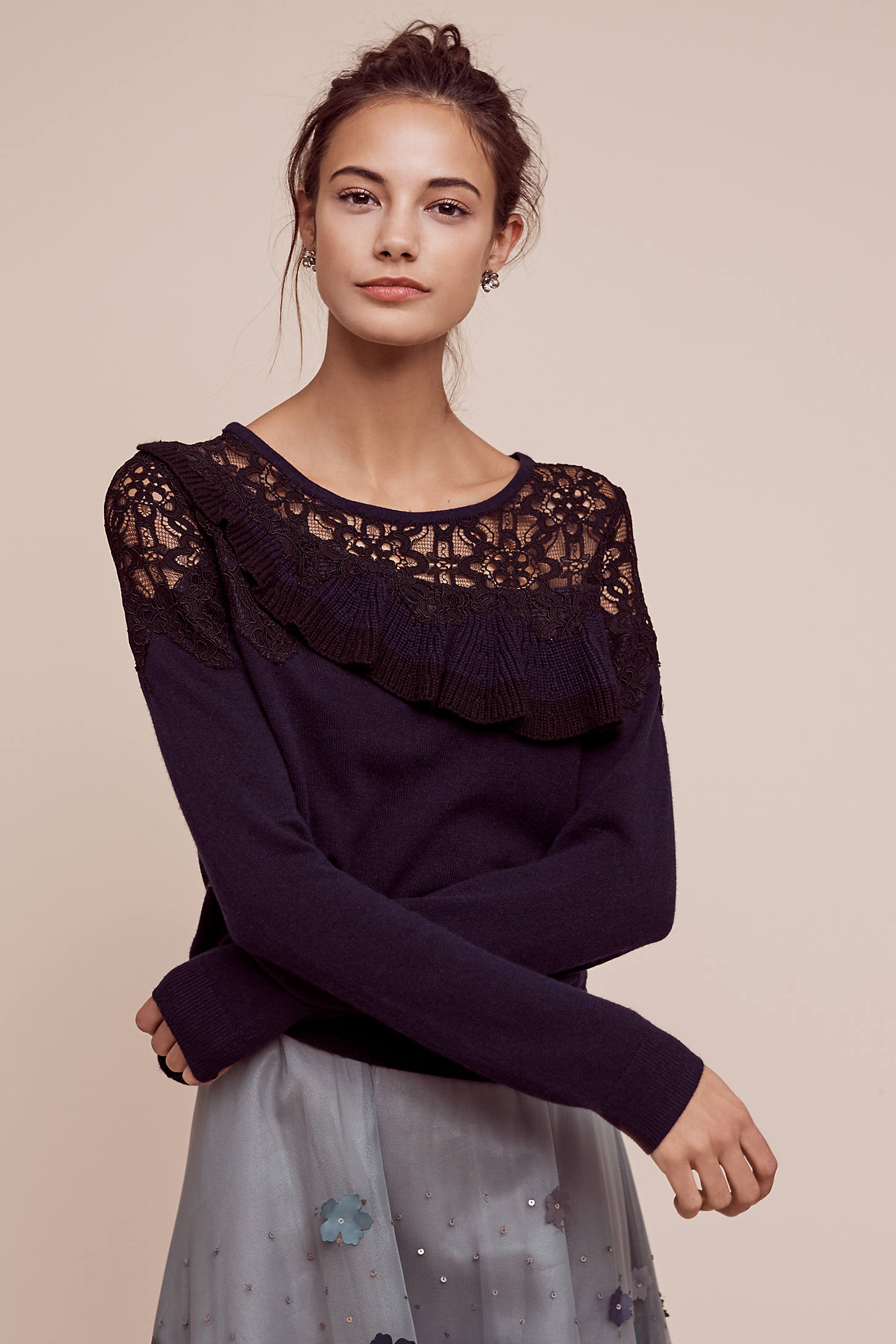 Charlize Laced Jumper, Navy