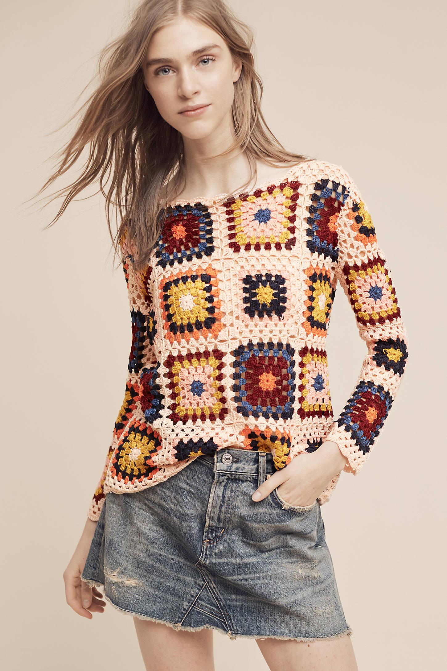 Retrospect Crocheted Pullover