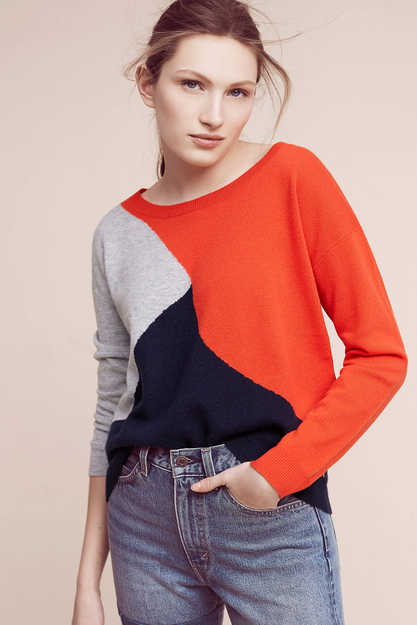 Colourblock Wool Pullover