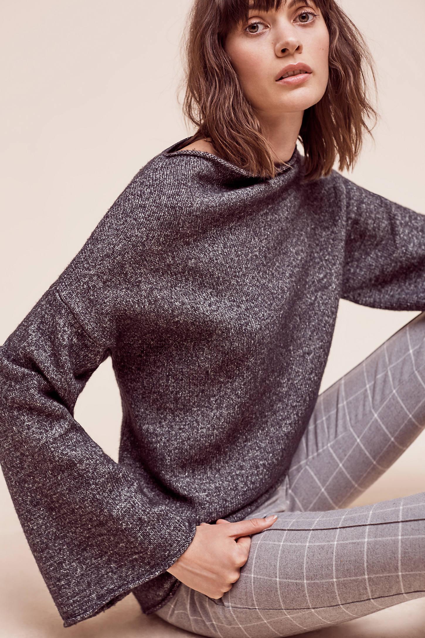 Liliane Bell-Sleeve Pullover
