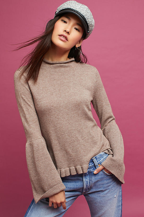 Serene Bell-Sleeve Turtleneck