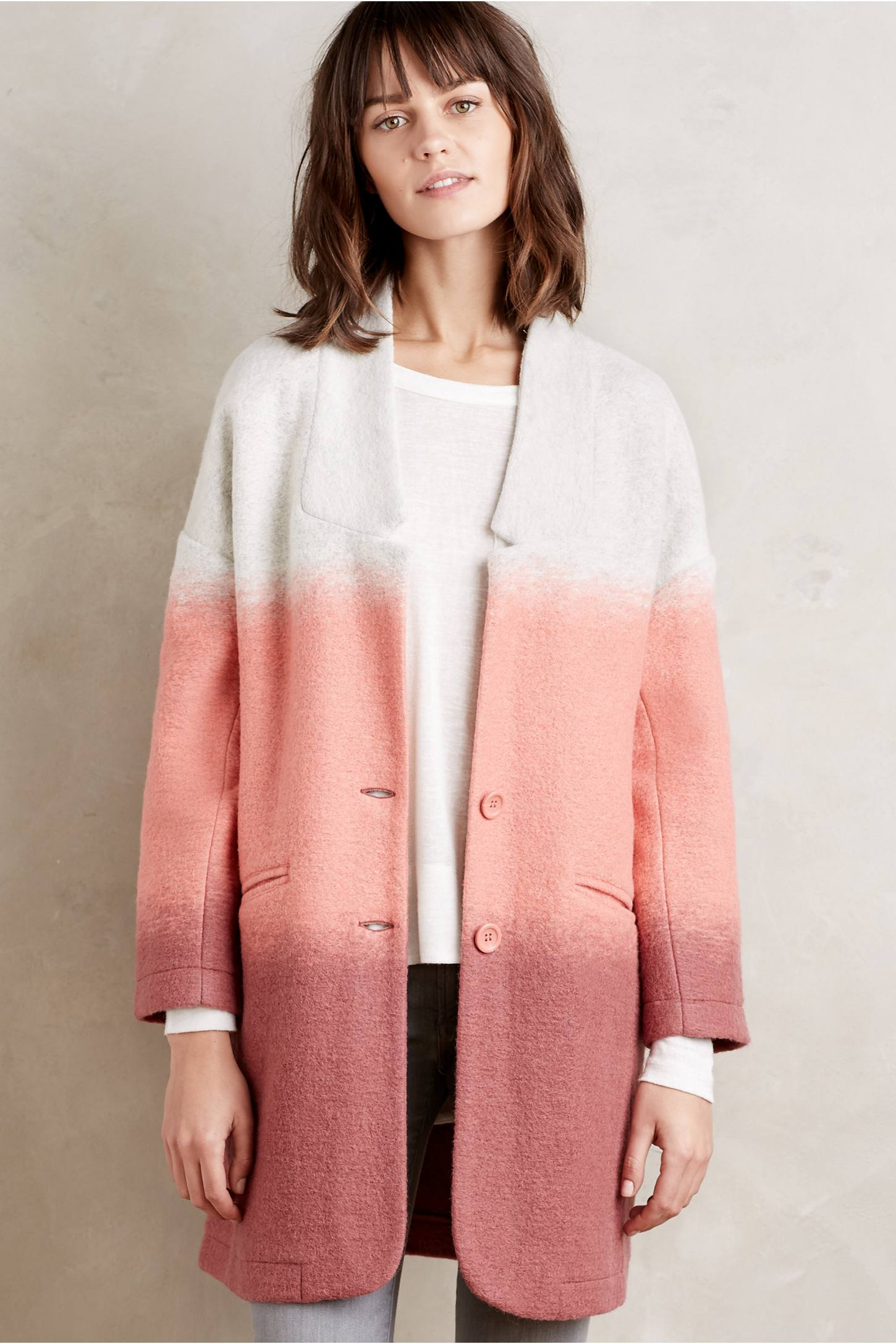 Blushed Colorblock Coat