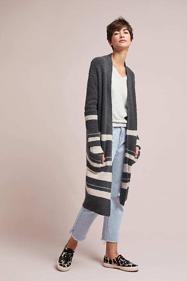 Striped Boucle Cardigan